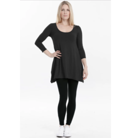Advika Advika-Breathe Top 3/4  Sleeve Blk