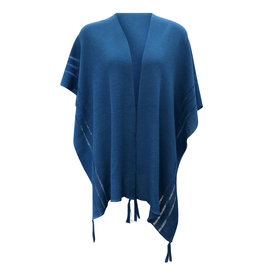 Ireland-Merino Wool Cape in Teal