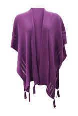 Ireland-Merino Wool Cape in Purple