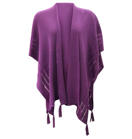 Ireland-Merino Wool Cape in Purple