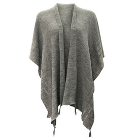Ireland-Merino Wool Cape in Grey