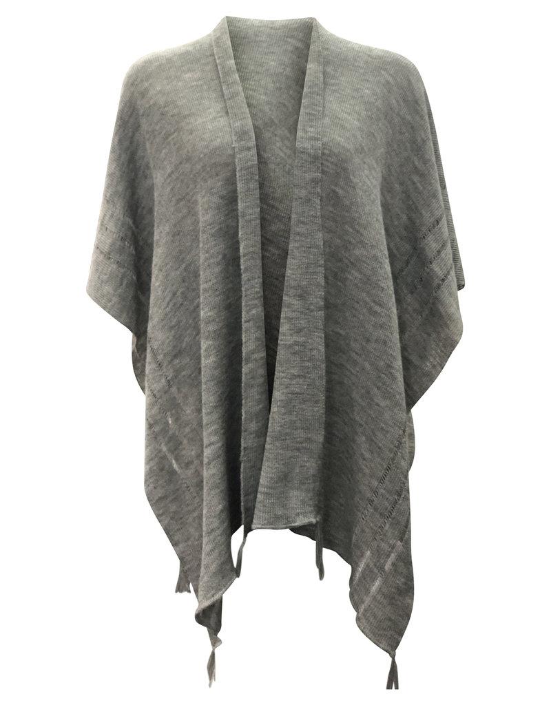 Ireland-Merino Wool Cape in Grey
