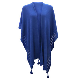 Ireland-Merino Wool Cape in Royal Blue