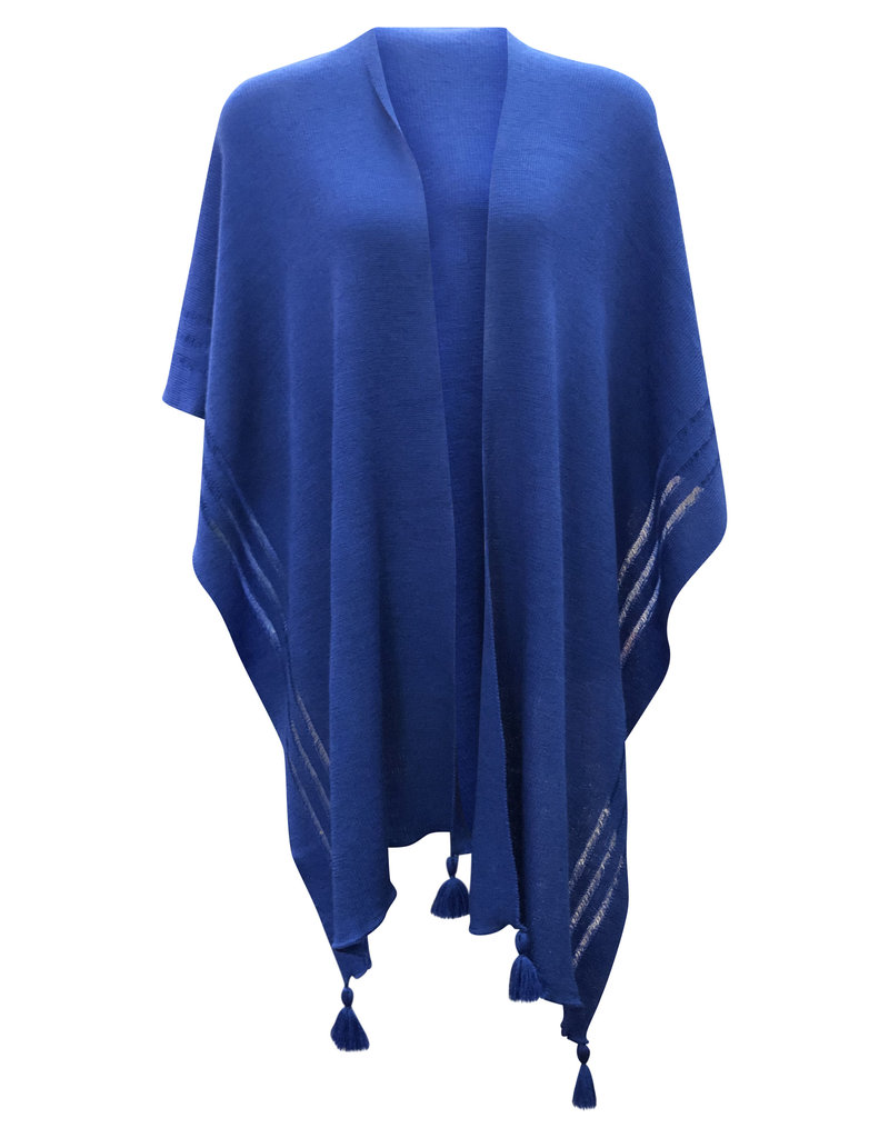 Ireland-Merino Wool Cape in Royal Blue