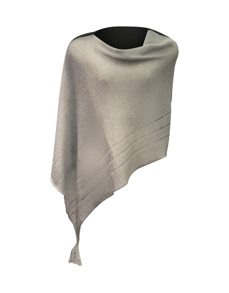 Ireland-Merino Wool Cape in Blk/Beige