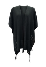Ireland-Merino Wool Cape in Blk