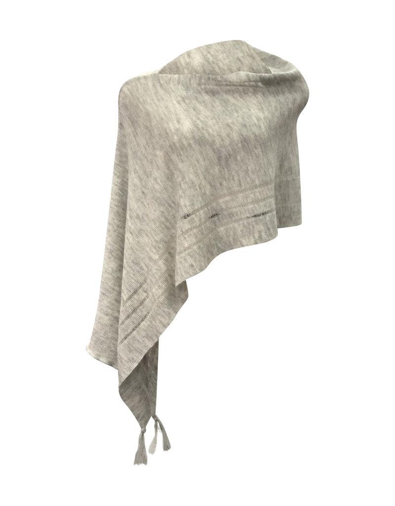 Ireland-Merino Wool Poncho in Lt Grey