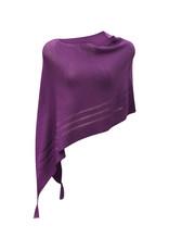 Ireland-Merino Wool Poncho in Purple