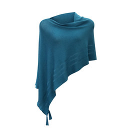 Ireland-Merino Wool Poncho in Teal