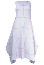 Boris Boris-Serged Dress Wht Stripe Colour Stitch