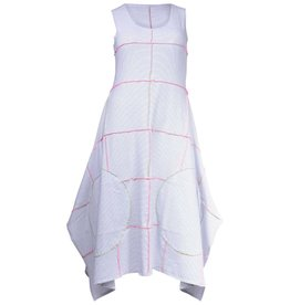 Boris Boris-Serged Dress Wht Stripe Colour Stitch