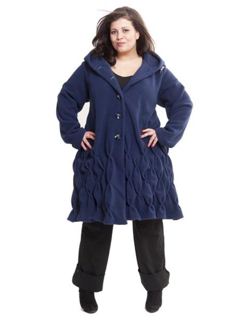 Boris BORIS- Coat in Navy #1040 One Size
