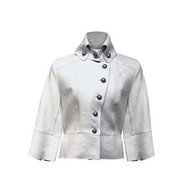 Lousje & Bean L&B- Crop Jacket in Silver Linen