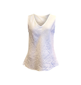 Cut Loose Cut Loose-Linen Bias Tank in White