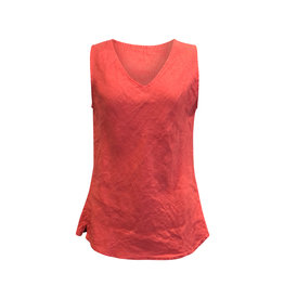 Cut Loose Cut Loose- Linen Bias Tank in Harbour Red