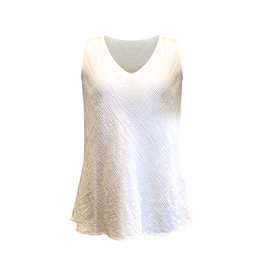 Cut Loose Cut Loose-Bias Tank in Crinkle White