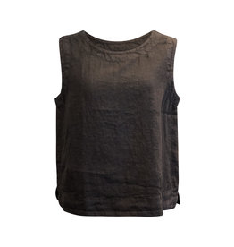 Cut Loose Cut Loose-Linen Crop Tank in Black