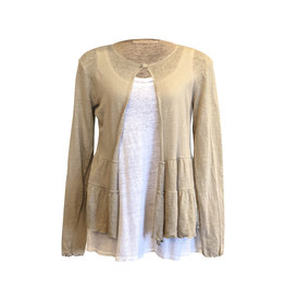 Cut Loose Cut Loose- Linen Knit Cardi in Jute