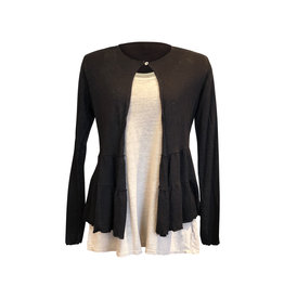 Cut Loose Cut Loose- Linen Knit Cardi in Black