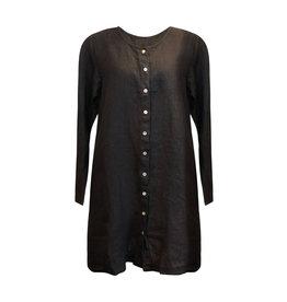 Cut Loose Cut Loose- Linen Coat Dress in Black