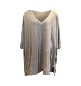 Cut Loose Cut Loose- Linen Knit V-Neck in Jute
