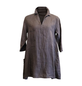 Cut Loose Cut Loose-Linen Pocket Tunic in Iron