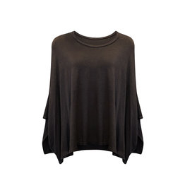 Cut Loose Cut Loose-L/S Top in Black One Size