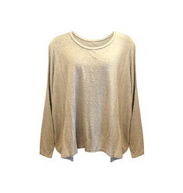Cut Loose Cut Loose-L/S Top in Jute One Size