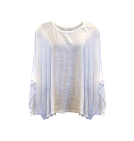 Cut Loose Cut Loose-L/S Top in White in One Size
