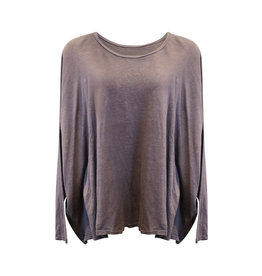Cut Loose Cut Loose-L/S Top in Iron in One Size