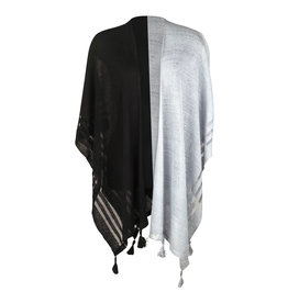Ireland-Linen Cape Blk/Grey One Size