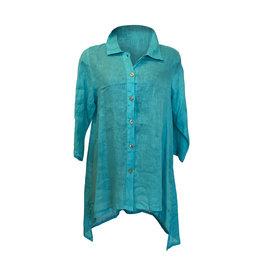 Click Click-Linen Tunic in Turq