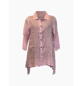 Click Click-Linen Tunic in Lt. Pink