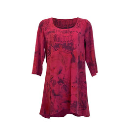 Click Click-Hi Lo Tunic in Cherry