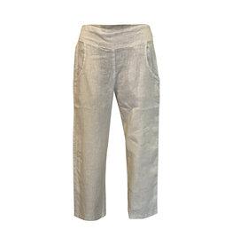 Click Click-Linen Crop Pant in Sand