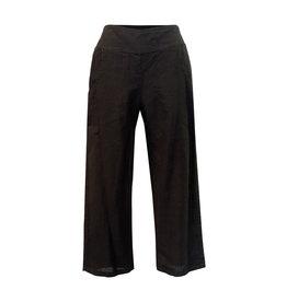 Click Click-Linen Crop Pant in Blk