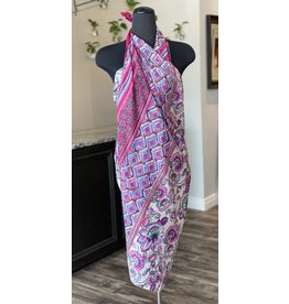 Summer Wrap/Scarf-Purple Print