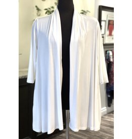 Bamboo Back Slit Cardi in Cream