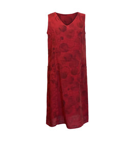 Click Click-Linen Sleeveless Dress in Red