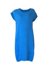 Grizas Grizas-Linen Dress in Turq