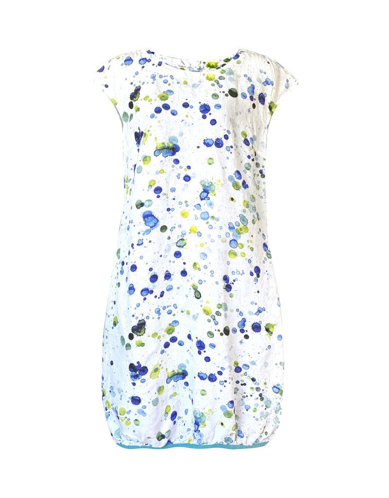 Grizas Grizas-Paint Splat Linen Dress