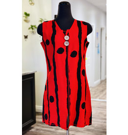 Moffi Moffi- Red Polka Dot Top