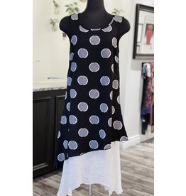 Moffi Moffi- Polka Dot Dress in Black