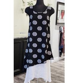 Moffi- Polka Dot Dress in Black