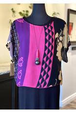 SariKNOTsari Silk Sari- Boxy Top in Fuchsia
