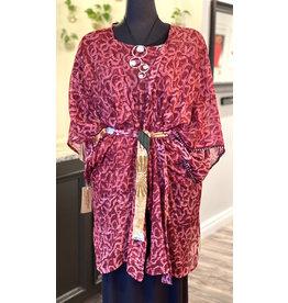 SariKNOTsari- Short Kimono in Red