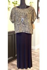SariKNOTsari Silk Sari- Boxy Top in Blk/Cream