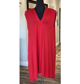 Bamboo Dress in Red