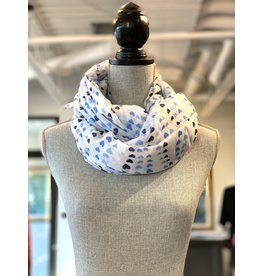 Sahib Scarf Viscose Blue Hearts-43