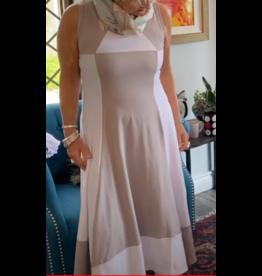Boris Boris- Squares Dress in White